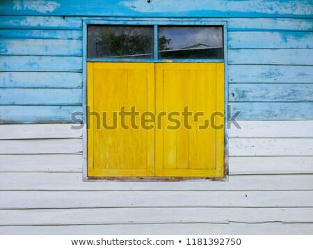 starych · żółty · budynku · Windows · wysoki - zdjęcia stock © goce