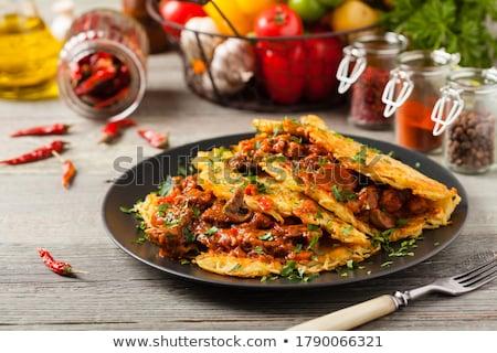 goulash and potato pancakes stock photo © digifoodstock