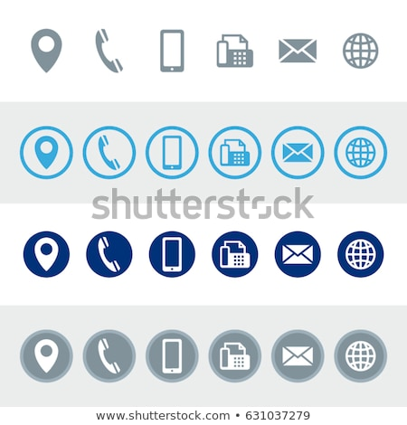 Rounded icons with cards Stock photo © bluering