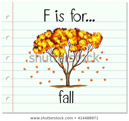 Flashcard letter F is for fall Stock photo © bluering