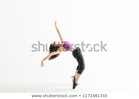 énergique danseur simple croquis blanche danse Photo stock © bluering