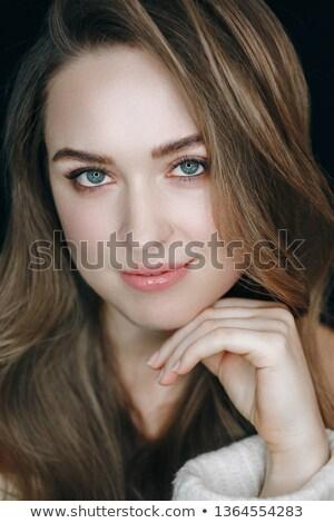 フロント 表示 女性 触れる 眉 ストックフォト © dash