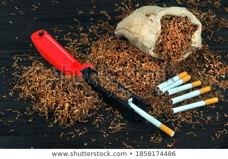 Handmade cigarette and tobacco Stock photo © berczy04
