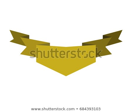 Ribbon isolated template yellow. Decorative tape for heraldry. R Stock photo © popaukropa