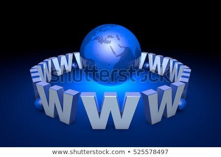 The  Internet addiction, new information era. Web technologies.  Stock photo © grechka333