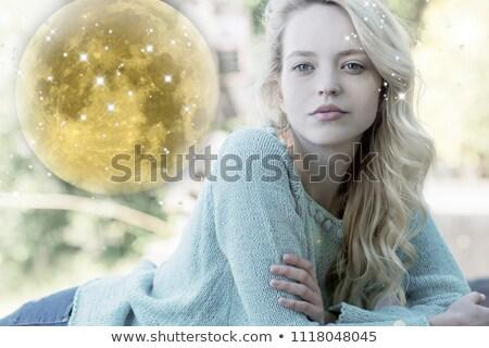 Volle maan christmas hoed illustratie partij Stockfoto © adrenalina
