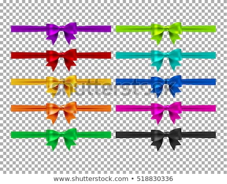 Blue ribbon with bow on a white background. EPS 10 Stock photo © beholdereye