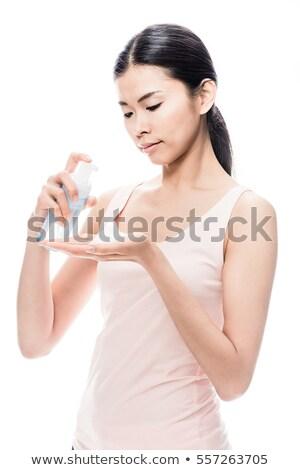Młodych asian kobieta strony kosmetycznych Zdjęcia stock © Kzenon