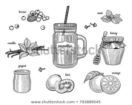 ストックフォト: 生姜 · 白 · 孤立した · 現実的な · 実例 · キッチン