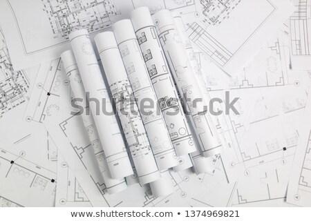 Mimari planları planı çizim şehir Stok fotoğraf © dfrsce