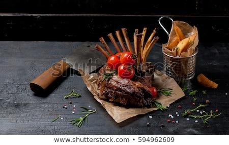 Cordeiro tomates branco ilustração fundo Foto stock © bluering