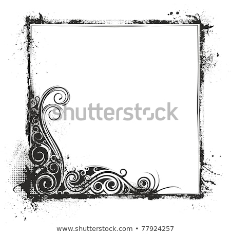 Grunge scribbles frame Stock photo © SwillSkill