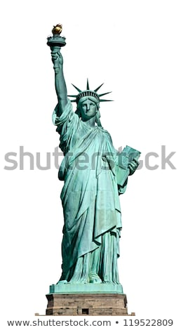 Statue of Liberty isolated on white Stock photo © tilo