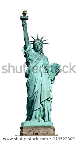 Estátua liberdade isolado branco New York City Estados Unidos Foto stock © tilo