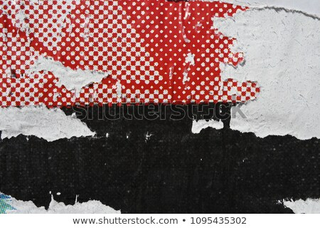 Printed red poster paper texture Stock photo © stevanovicigor