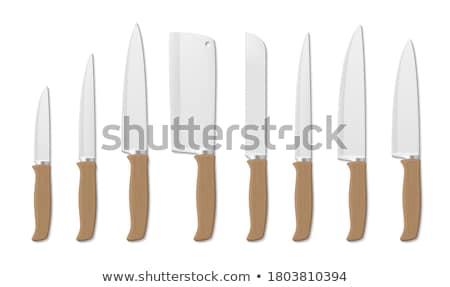 Cucina coltello legno gestire bianco acciaio Foto d'archivio © Digifoodstock