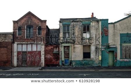Verouderd gebouw shot Stockfoto © devon
