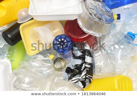 Plastic garbage dumspter containers from above Stock photo © stevanovicigor