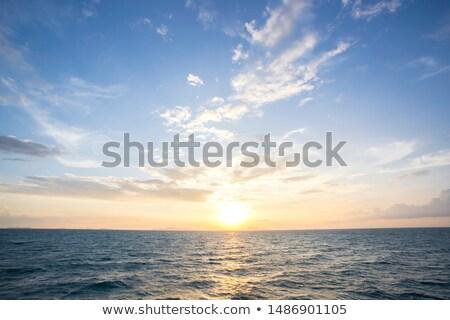 nascer · do · sol · nuvens · belo · paisagem · natureza - foto stock © Yongkiet
