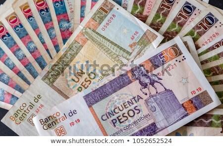 Cubaans bankbiljetten munten tabel verschillend business Stockfoto © CaptureLight