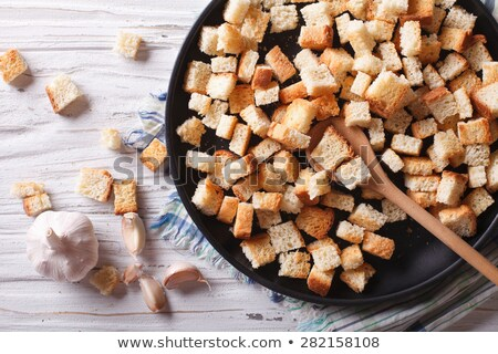 pan fried bread cubes Stock photo © Digifoodstock