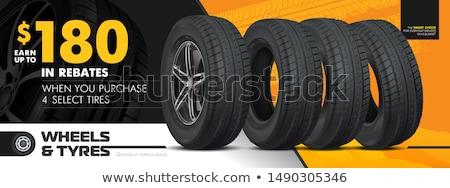 Illusztráció autógumik 3d illusztráció út mozgás verseny Stock fotó © ssuaphoto