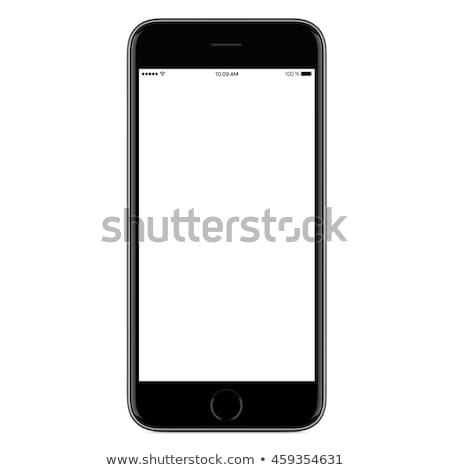 Empty screen smartphone template on white background. Design ele stock photo © masay256
