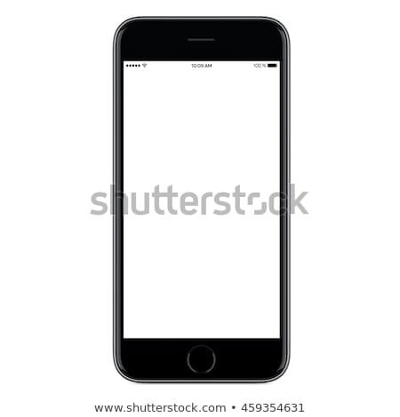 Lege scherm smartphone sjabloon witte ontwerp Stockfoto © masay256