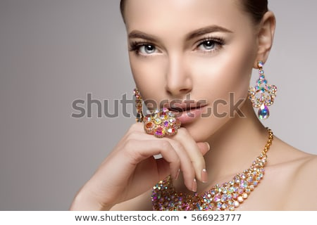 beautiful woman with necklace jewelry and beauty stock photo © julenochek
