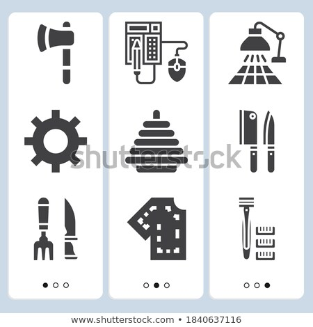 Displays - Granite Icons Stock photo © micromaniac