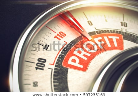 Stock photo: Profit - Text on Conceptual Scale with Red Needle. 3D.