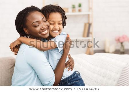 Anya ölel gyermek gyönyörű fiatal kicsi Stock fotó © deandrobot