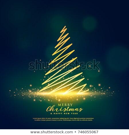 creative christmas tree design on glowing glitter sparkles stock photo © SArts