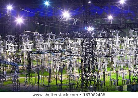 Сток-фото: электроэнергии · ночь · технологий · цвета · Европа · темноте