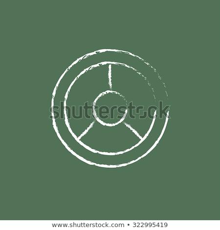 Irányítás kézzel rajzolt zöld tábla modern iroda Stock fotó © tashatuvango