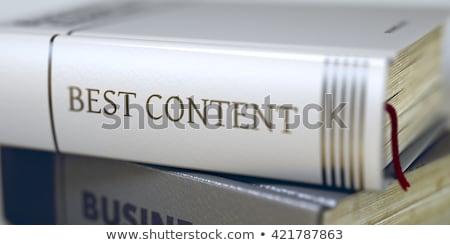 Buch Titel besten Inhalt Pfund Stock foto © tashatuvango