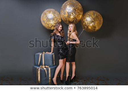 фото два счастливым красивой девочек Сток-фото © deandrobot