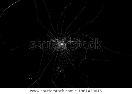 Closeup view of abstract black led tv on white background Stock photo © Nobilior