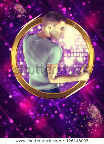 Młody człowiek równoważenie disco ball portret lustra równowagi Zdjęcia stock © IS2
