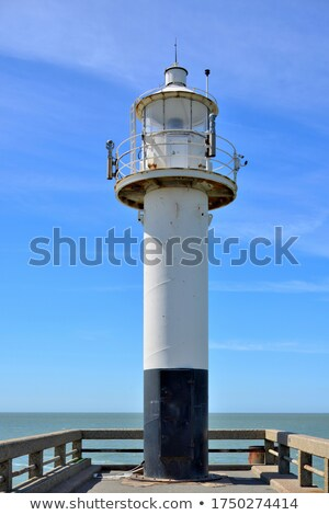 White lighthouse in Blankenberge   Stock photo © benkrut