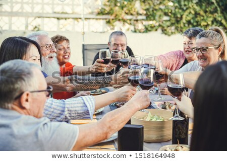 seniors having dinner stock photo © is2
