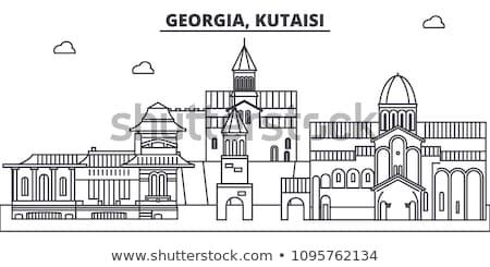 Eski şehir Georgia taş ortaçağ towers Stok fotoğraf © Kotenko