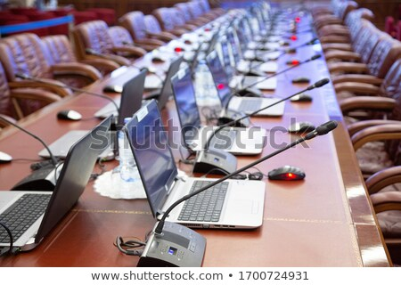 Mikrofon sala konferencyjna działalności spotkanie biznesmen konferencji Zdjęcia stock © wavebreak_media