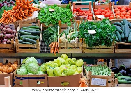 Farmers Market Stalls Stock photo © lenm