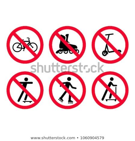 Stop skateboard. No skateboarding. It is forbidden to ride on bo Stock photo © popaukropa
