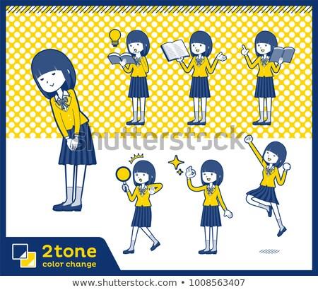 2tone type school girl Blazer_set 05 Stock photo © toyotoyo