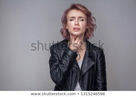 короткие · волосы · черный · высокий · женщины · болезнь · набор - Сток-фото © toyotoyo