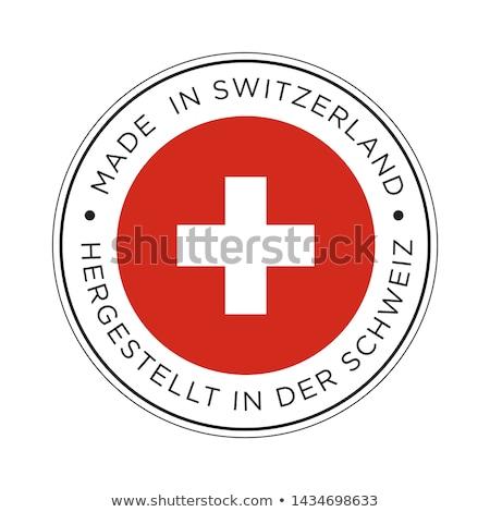 Этикетки Швейцария флаг жетоны Сток-фото © gomixer