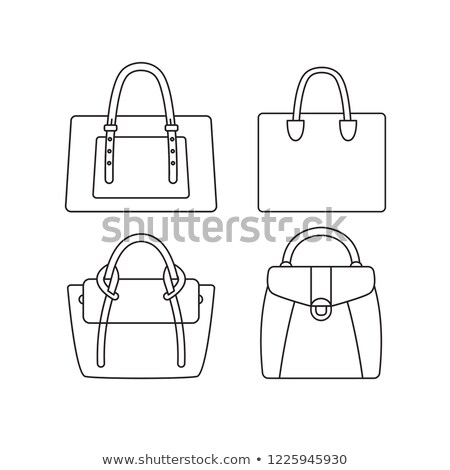 Set of flat women's bag and purse icons. Vector illustration. stock photo © dejanj01