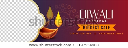 stylish diwali discount banner with image space stock photo © sarts